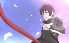 Picture the sky, art, guy, Kimi no VA On, Your name