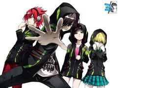 Picture anime, art, Sousei no Onmyouji, Banjo, Two stars, onmedia, Rokuro, Shimon