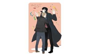 Picture art, the series, Sherlock Holmes, John Watson, Sherlock BBC, hugs, Dr. John Watson, John Watson, …