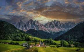 Picture clouds, mountains, Alps