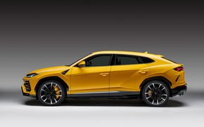 Picture Lamborghini, side view, 2018, Urus