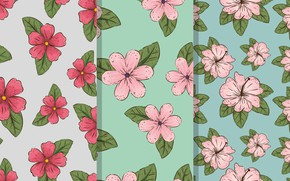 Picture flowers, vintage, texture, background
