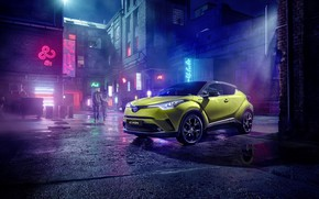 Picture Toyota, C-HR, 2019, Neon Lime, powered py JBL
