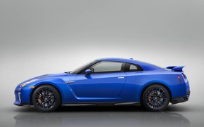 Picture Blue, Car, Japanese, Side view, 50th Anniversary Edition, 2020 Nissan GT-R