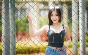 Picture girl, smile, Asian, cutie