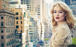 Picture look, girl, the city, hair, makeup, Olivia Wilde, beautiful
