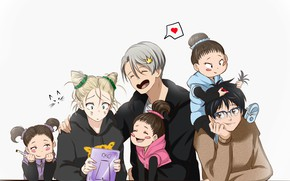 Picture joy, children, anime, art, hairstyles, Yuri on Ice, Yuri on the ice, victor nikiforov, Yuri …