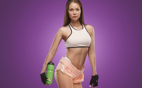 Picture girl, sweetheart, shorts, fitness, athlete
