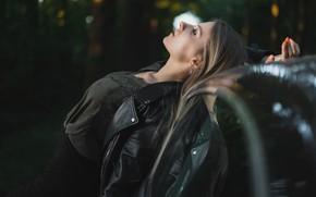 Picture girl, pose, jacket, Ilya Pistols
