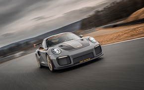 Picture overcast, speed, 911, Porsche, racing track, GT2 RS, 991, 2020