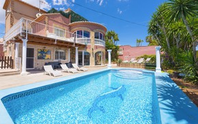 Picture Villa, pool, Italy, architecture, Monza, Villa in Calpe