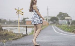 Picture road, look, girl