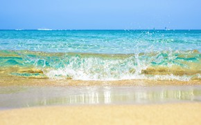 Wallpaper sand, sea, wave, beach, summer, summer, beach, sea, ocean, blue, seascape, sand, wave