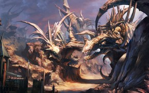 Picture the game, dinosaurs, skeletons, Tera