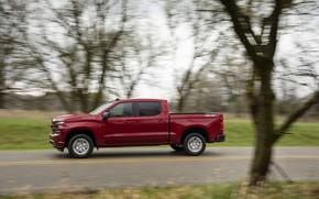 Picture red, speed, Chevrolet, pickup, Silverado, 2019, RST
