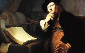 Picture portrait, picture, Ferdinand Bol, Plenty Of Ferdinand, Astronomer