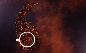 Picture background, Cup, coffee beans
