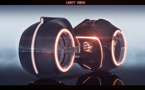 Picture design, reflection, transport, glow, LIght bike