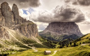 Picture mountains, photo, valley, house, paths