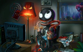 Picture Language, Room, Teeth, Art, Comics, MARVEL, Concept Art, Venom, Venom, Spider Man, Room, Spider-Man, Symbiote, …