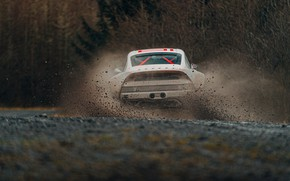 Picture squirt, 911, Porsche, dirt, back, rally, 964, AWD, Singer, twin turbo, 2020, 2021, Singer Vehicle …