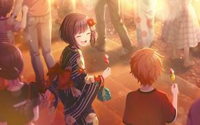 Picture girl, guy, laughs, festival, Project Sekai Colorful Stage! feat. Hatsune Miku, Shinonome Akito, Shinonome Ena