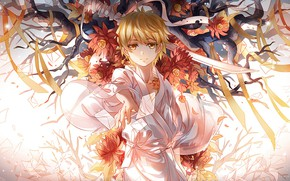 Picture anime, boy, art, A Homeless God, Noragami, Yukine to keep In moderation