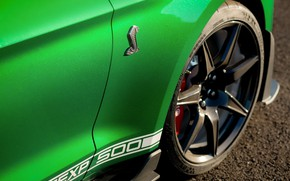 Picture Mustang, Ford, Shelby, GT500, wheel, 2020, Green Hornet, EXP 500