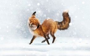 Picture Winter, Snow, Fox, Fox, Winter, Snow, Animal, First Snow, Johanna Tarkela, by Johanna Tarkela, Little …