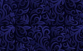Picture blue, abstraction, background, pattern, vintage