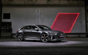 Picture light, Audi, universal, RS 6, 2020, 2019, dark gray, V8 Twin-Turbo, RS6 Avant