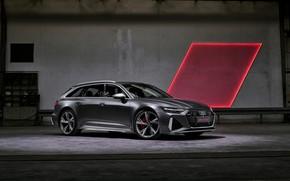 Picture light, Audi, universal, RS 6, 2020, 2019, dark gray, V8 Twin-Turbo, RS6 Avant