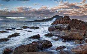 Picture the ocean, rocks, Australia