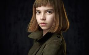 Picture girl, brown-eyed, Nastya, Alexander Vinogradov