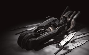 Picture weapons, motorcycle, swords, Final Fantasy XV