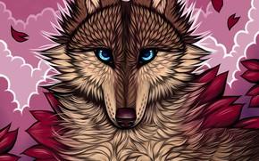 Picture look, wolf, myarukawolf, by myarukawolf