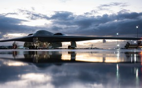Picture UNITED STATES AIR FORCE, B-2 Spirit, Northrop Grumman, flying wing, American heavy, stealth strategic bomber
