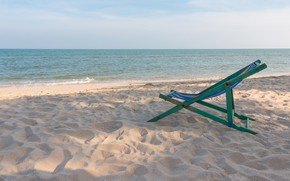 Picture sand, sea, wave, beach, summer, the sky, chaise, summer, beach, sea, blue, seascape, sand, wave