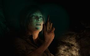 Picture cave, lara croft, radio, shadow of the tomb raider