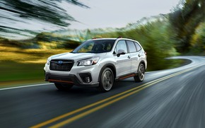Picture speed, blur, Subaru, crossover, Forester, 2019