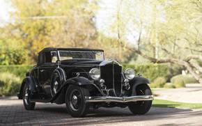 Picture Car, Black, Retro, Packard 900