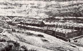 Picture farm, Vincent van Gogh, Fish-Drying Barn 2