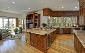 Picture design, interior, kitchen, living room