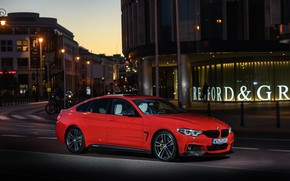 Picture BMW, side view, Gran Coupe, 2018, 4-Series, M Performance, 430i