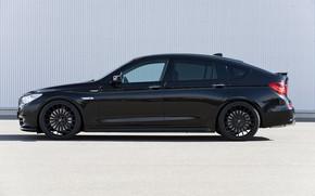 Picture asphalt, wall, BMW, profile, Hamann, 2010, drives, Gran Turismo, 550i, 5, F07, 5-series, GT