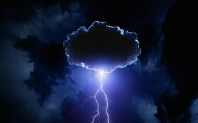 Picture the storm, the sky, clouds, night, clouds, lightning