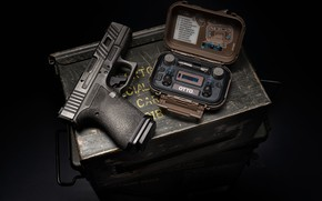 Picture gun, weapons, background, box