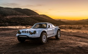 Picture white, coupe, 911, Porsche, 964, 2019, 911 Baja Prototype, Russell Built Fabrication