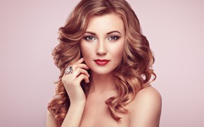 Picture girl, style, portrait, makeup, ring, Oleg Gekman