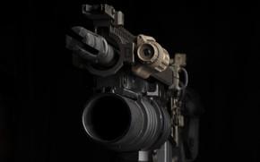 Picture the barrel, machine, grenade launcher, M203